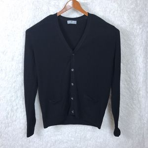 Alan Paine | Black Grandpa Cardigan Sweater Sz XXL